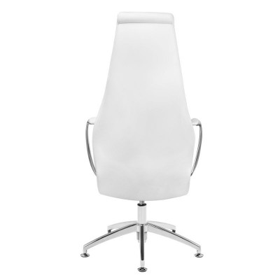 Луксозен козметичен стол бял