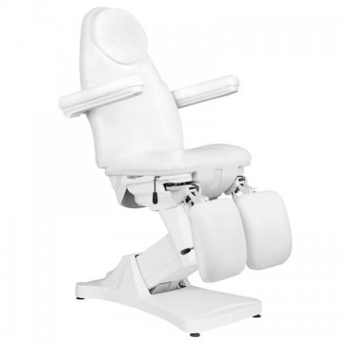 Луксозен козметичен стол електрически бял