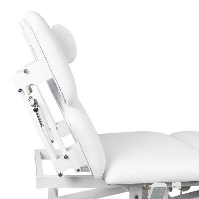 Луксозна масажна кушетка с 3 двигателя - бяла