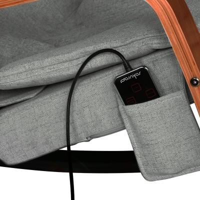 Люлеещ стол с масажна функция - сив