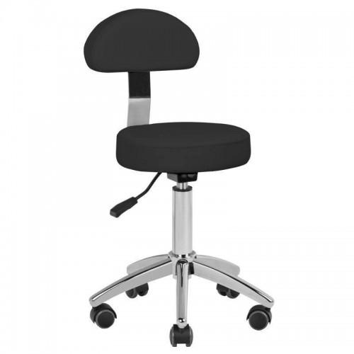 Малък черен козметичен стол