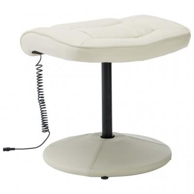 Масажен стол с табуретка – бял