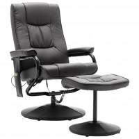 Масажен стол с табуретка – черен