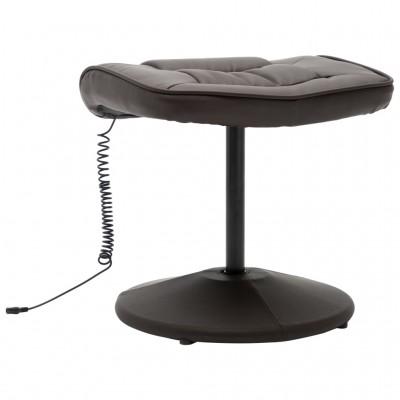 Масажен стол с табуретка – кафяв