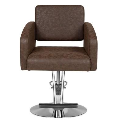 Модерен кафяв фризьорски стол