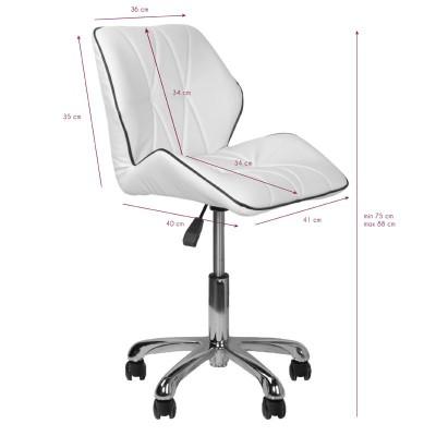 Модерен козметичен стол – бял