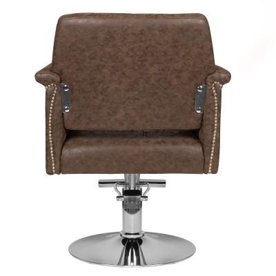 Премиум кафяв фризьорски стол