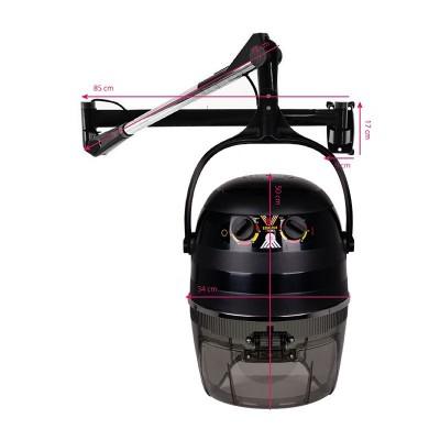 Ретро фризьорска каска – черна