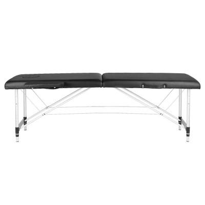 Сгъваема масажна кушетка алуминиева черна