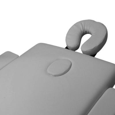 Сгъваема масажна кушетка алуминиева сива