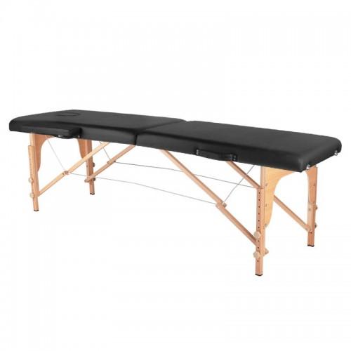 Сгъваема масажна кушетка дървена черна