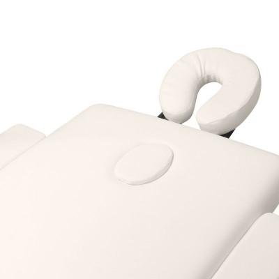 Сгъваема масажна кушетка дървена кремава