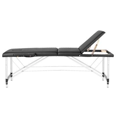 Сгъваема масажна кушетка три сегментна черна