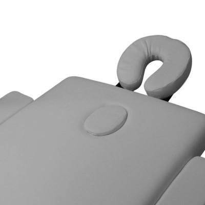 Сгъваема масажна кушетка три сегментна сива