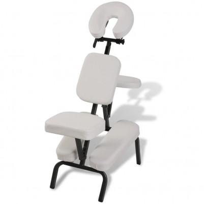 Сгъваем масажен стол – бял