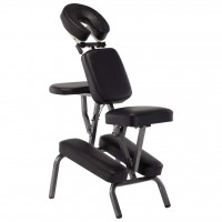 Сгъваем масажен стол – черен