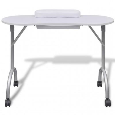 Сгъваема маса за маникюр – бяла
