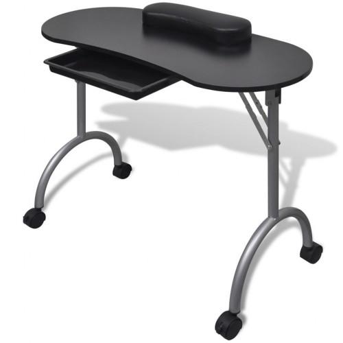 Сгъваема маса за маникюр – черна
