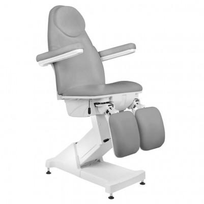 Сив козметичен стол електрически