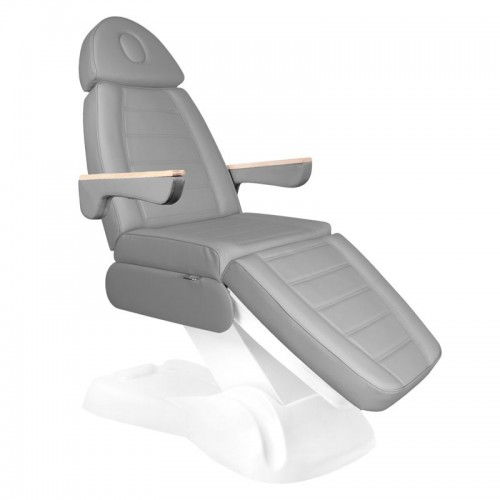 Сив козметичен стол електрически Lux - 3 двигателя