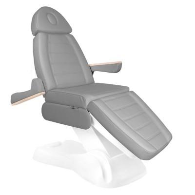 Сив козметичен стол електрически Lux