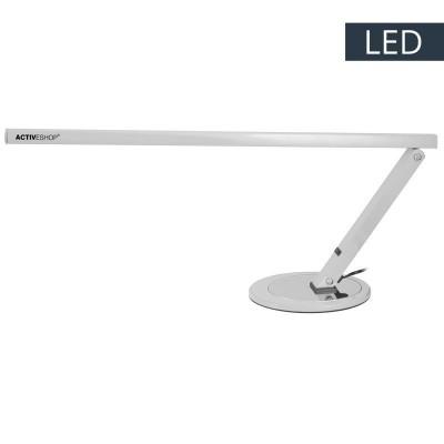 Сива LED алуминиева лампа за бюро
