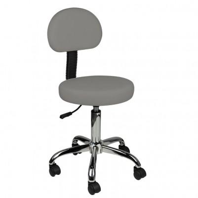 Козметичен стол с облегалка - сив