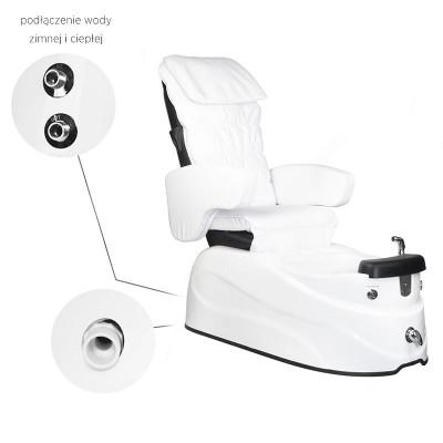 SPA стол за педикюр бял