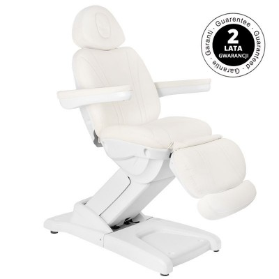 Стилен бял козметичен стол електрически