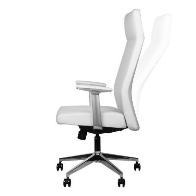 Стилен бял козметичен стол Rico