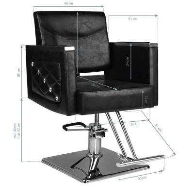 Стилен черен фризьорски стол