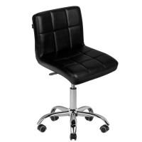 Стилен черен козметичен стол
