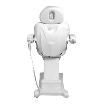 Стилен козметичен електрически стол бял