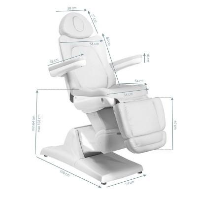 Стилен козметичен стол електрически бял