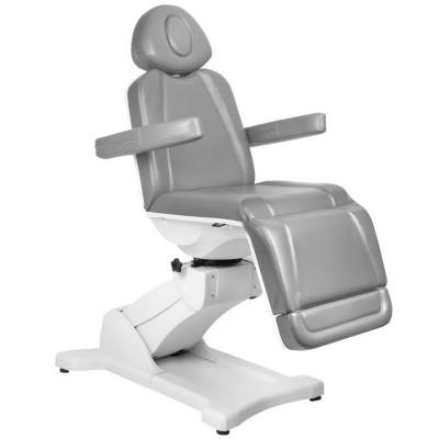 Стилен козметичен стол електрически сив