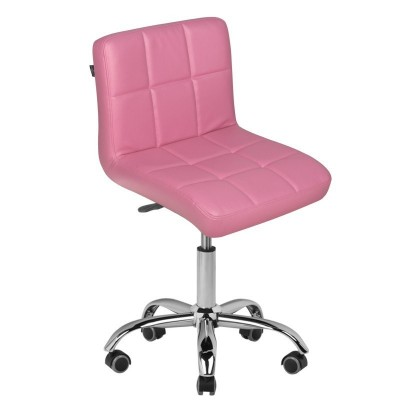 Стилен розов козметичен стол