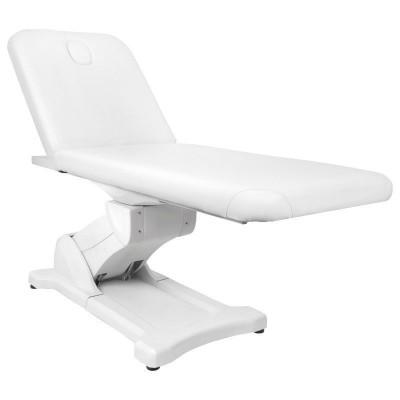 Стилна бяла електрическа масажна кушетка