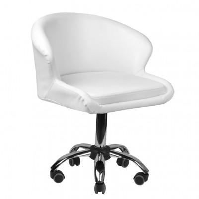 Удобен бял козметичен стол