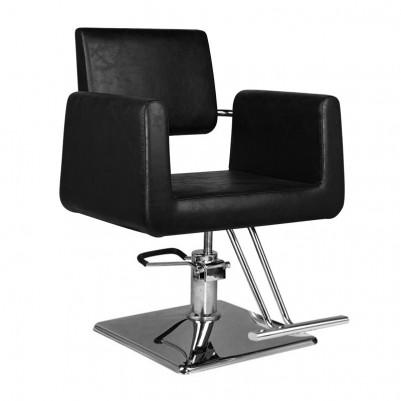 Удобен черен фризьорски стол