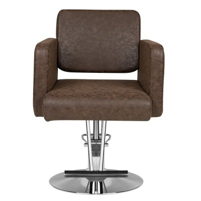 Удобен кафяв фризьорски стол