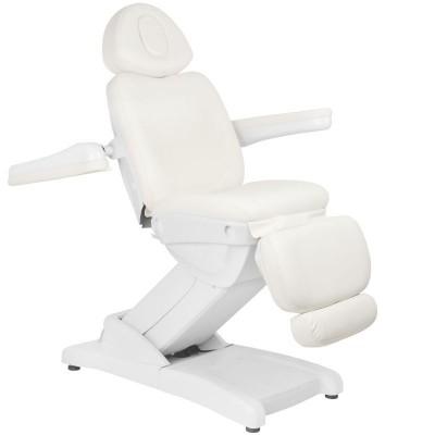 Удобен козметичен електрически стол Azzurro бял
