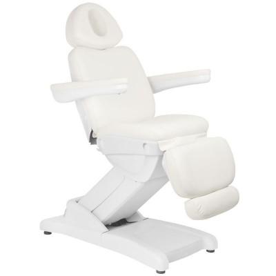 Удобен козметичен електрически стол бял