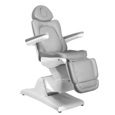 Удобен козметичен електрически стол сив