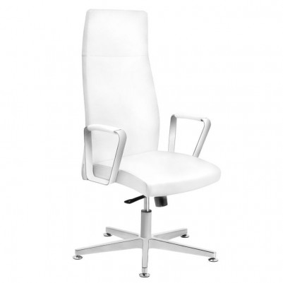 Удобен козметичен стол бял