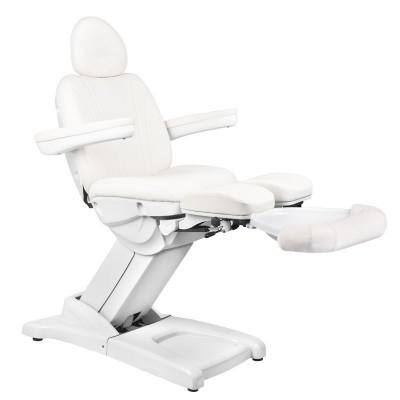 Удобен козметичен стол електрически бял