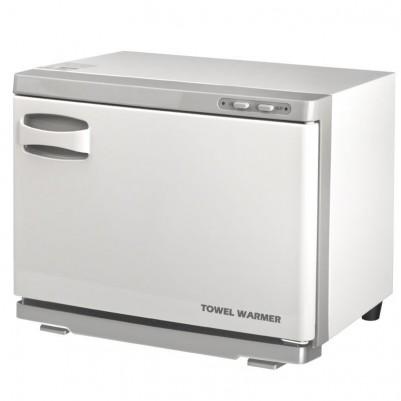 Бял уред за затопляне на кърпи с UV стерилизатор