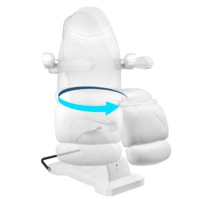 Въртящ се козметичен стол бял