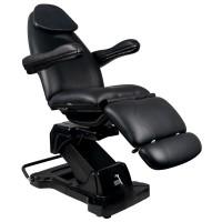 Въртящ се козметичен стол черен