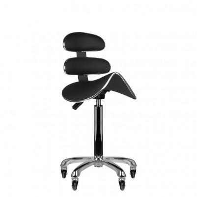 Висок черен работен стол