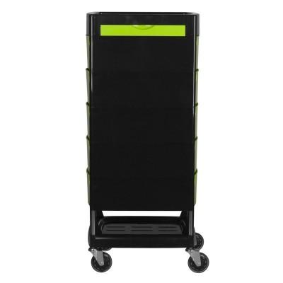Зелено-черна фризьорска количка
